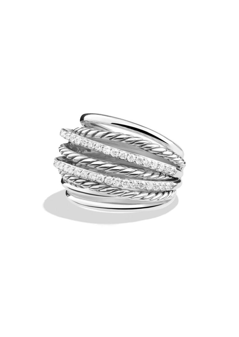David Yurman 'Crossover' Dome Ring with Diamonds