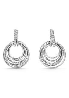 David Yurman Crossover Drop Earrings with Diamonds