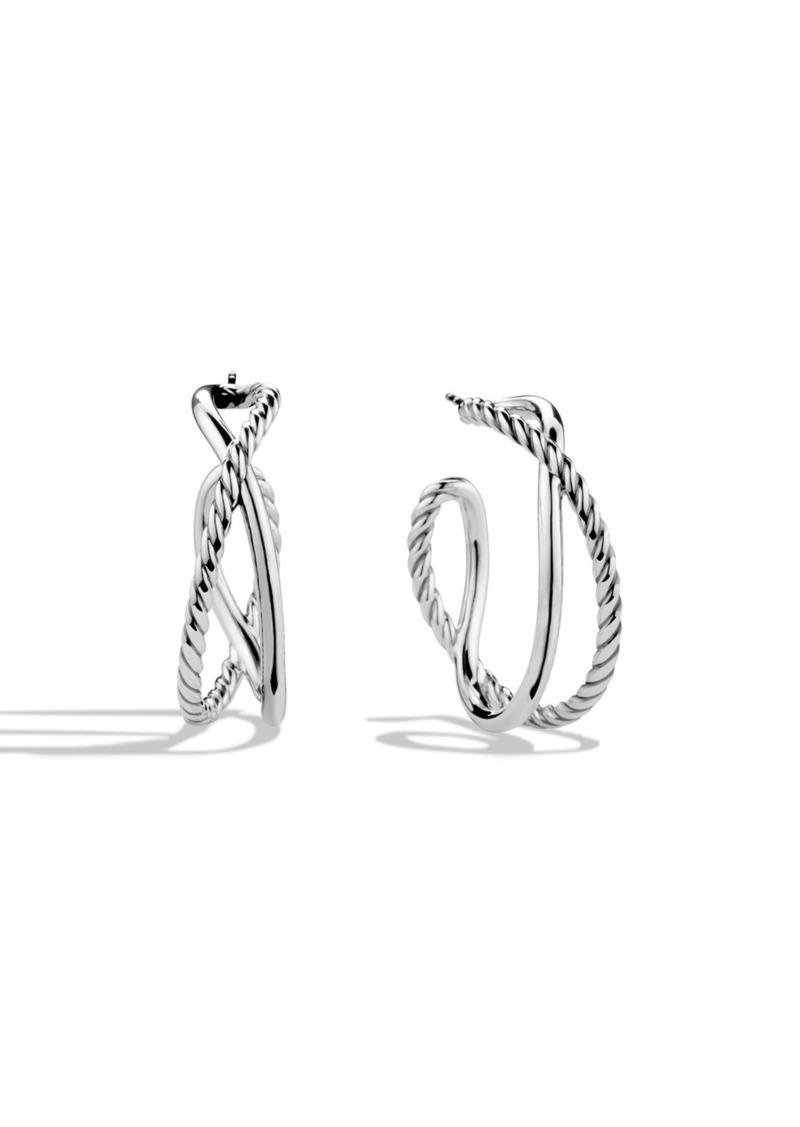 David Yurman 'Crossover' Hoop Earrings