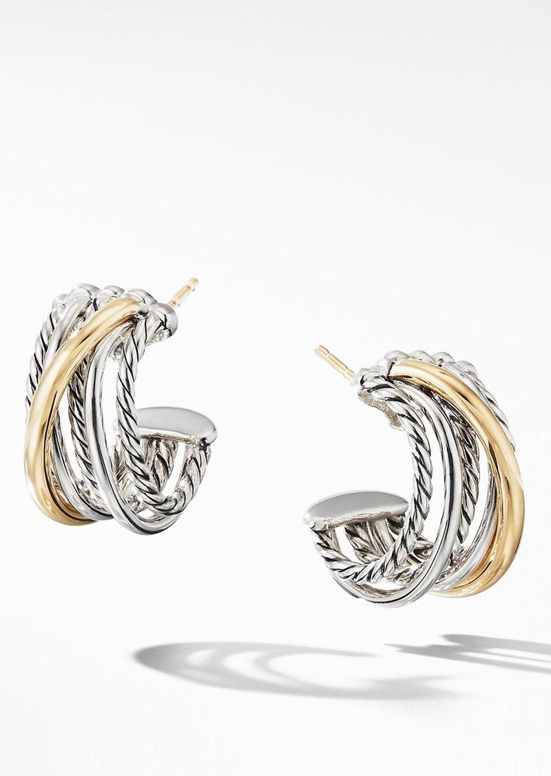 David Yurman Crossover Huggie Hoop Earrings