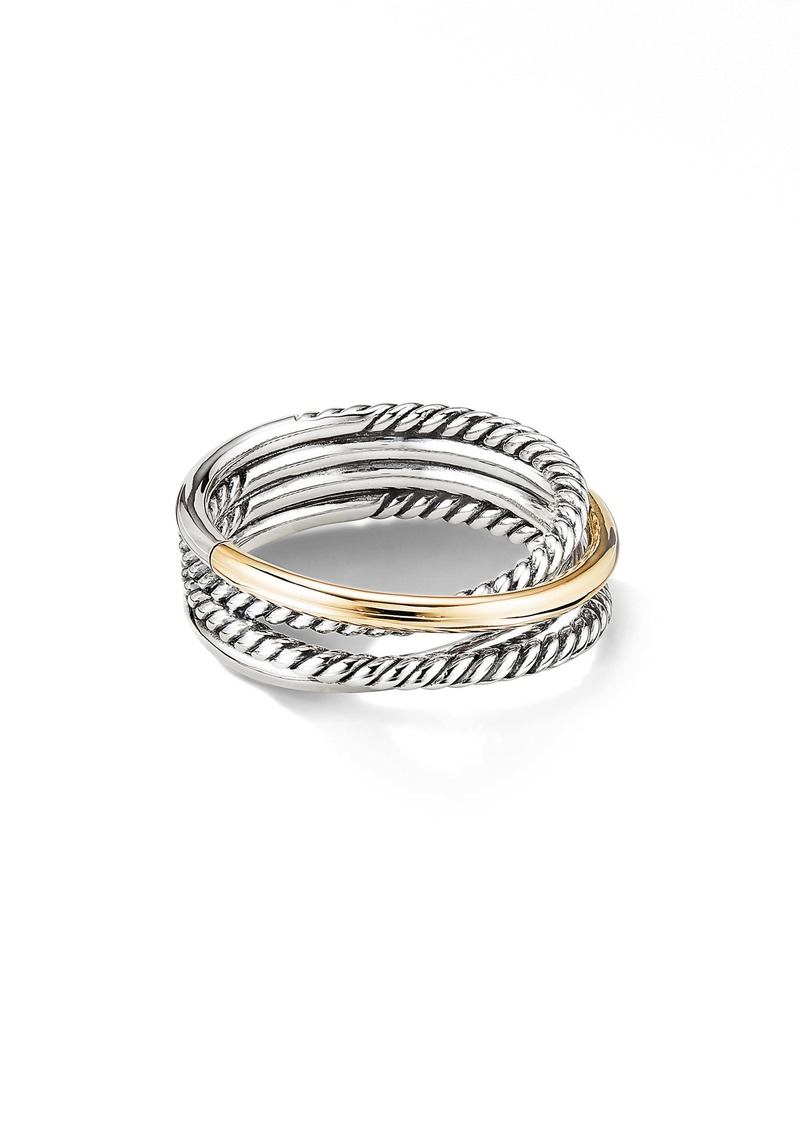 David Yurman Crossover Narrow Ring with 18K Gold