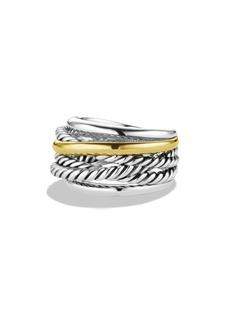 David Yurman 'Crossover' Narrow Ring with Gold