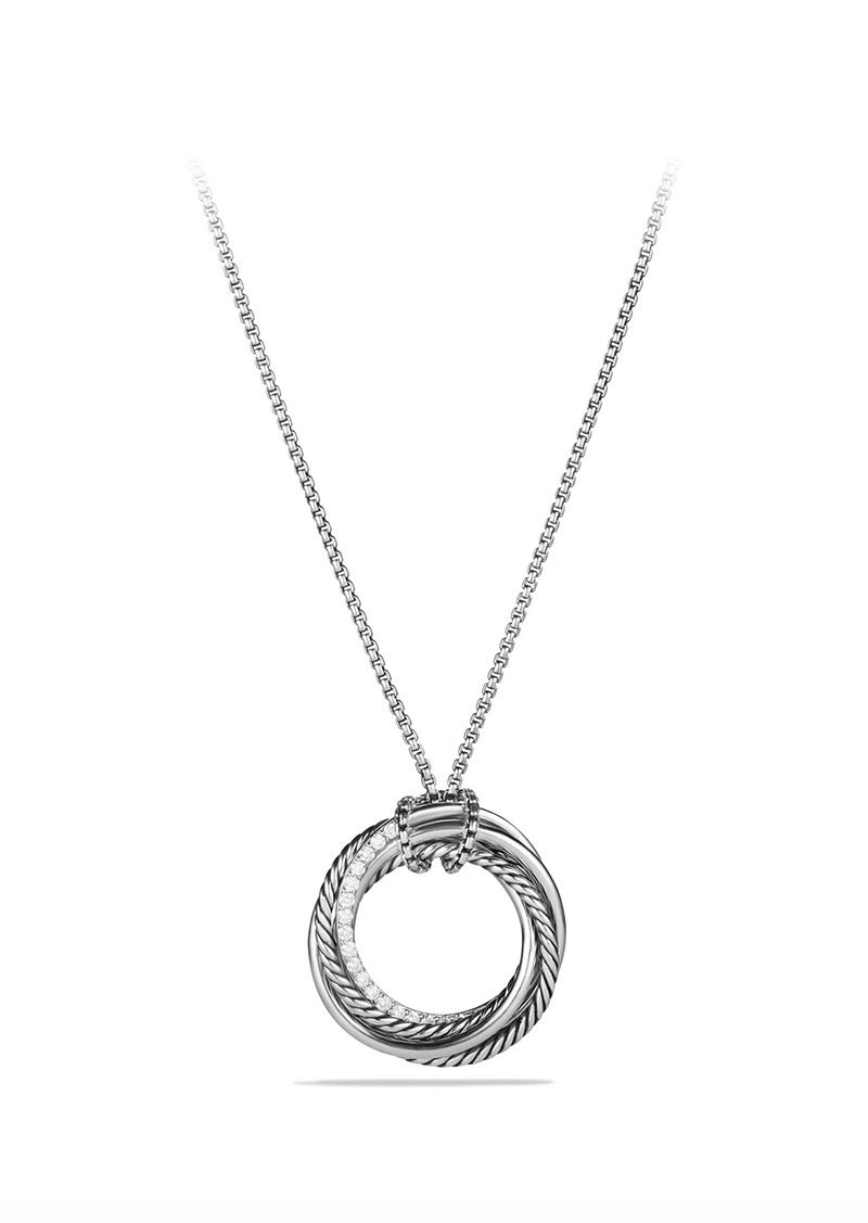 David Yurman 'Crossover' Pendant Necklace with Diamonds