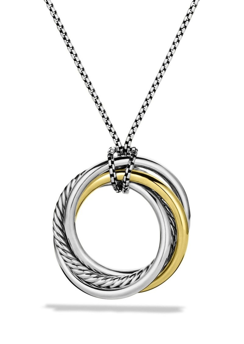 David Yurman 'Crossover' Pendant with Gold on Chain
