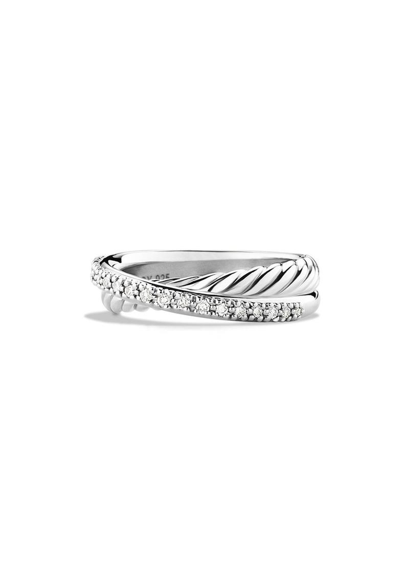 David Yurman 'Crossover' Ring with Diamonds