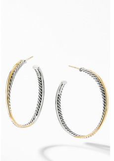 David Yurman Crossover® XL Hoop Earrings with 18K Yellow Gold