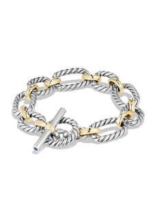 David Yurman Cushion Link Chain Bracelet with 18K Gold