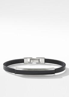 David Yurman Deco Bar Station Leather Bracelet with Black Onyx