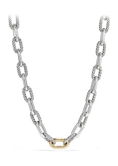 David Yurman DY Madison Chain Large Necklace with 18K Gold