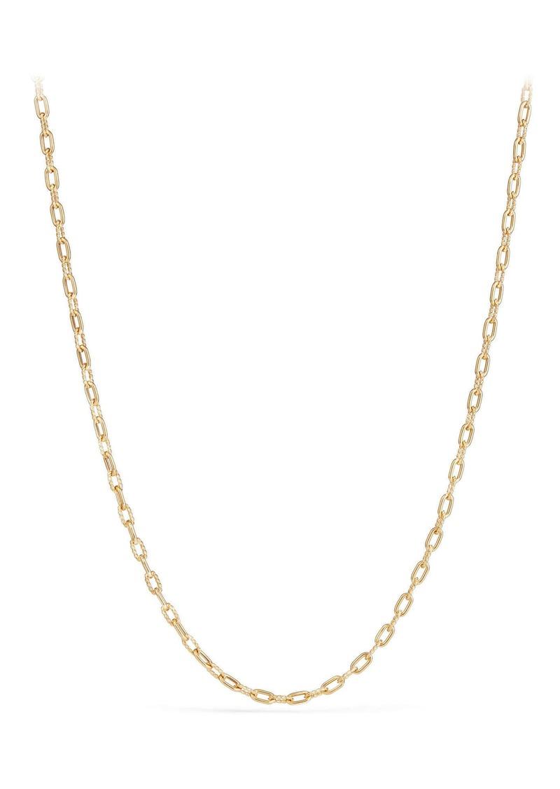 David Yurman DY Madison Thin Chain Necklace in 18K Gold