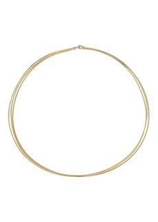 David Yurman Elements Three-Row Hard Wire 18K Gold Necklace