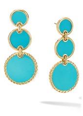 David Yurman Elements Triple Drop 18K Gold Earrings