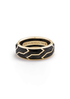David Yurman Forged Carbon Band Ring in 18K Gold, 8.5mm