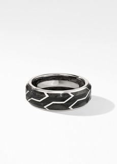 David Yurman Forged Carbon Band Ring in 18K White Gold