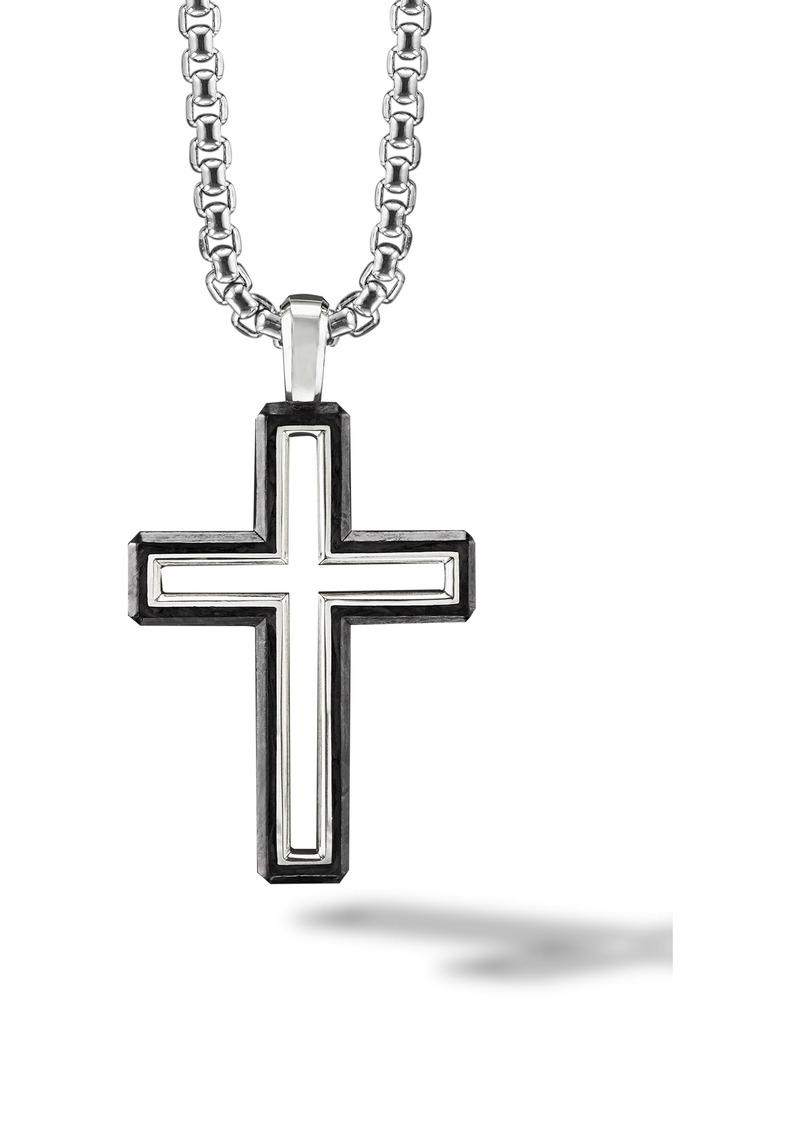 David Yurman Forged Carbon Cross Pendant