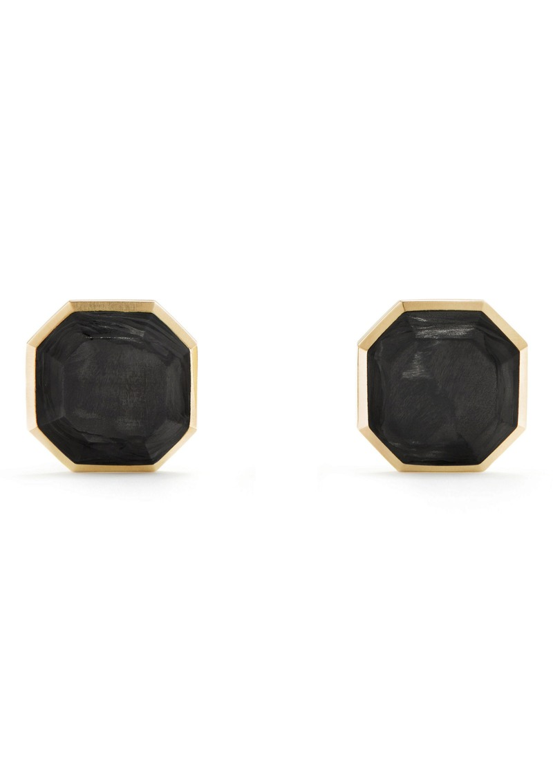 David Yurman Forged Carbon Cufflinks in 18K Gold