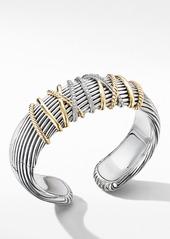 David Yurman Helena Cuff Bracelet with 18K Yellow Gold and Diamonds