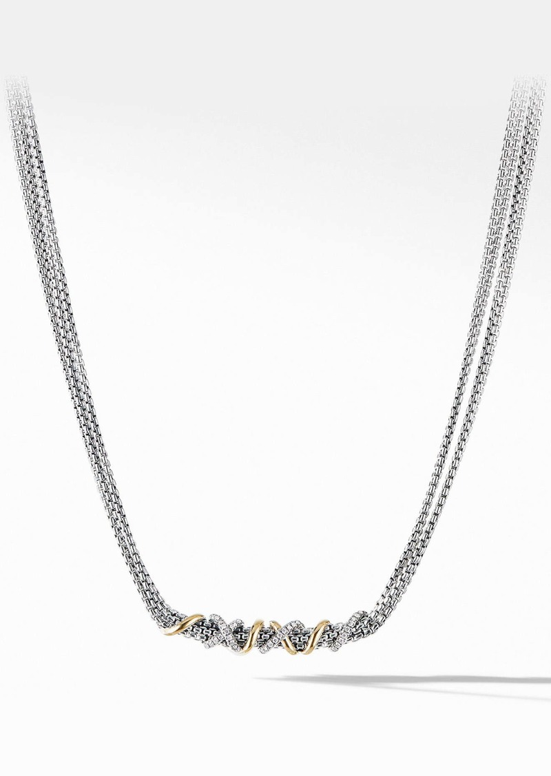 David Yurman Helena Short Necklace with 18K Yellow Gold and Diamonds