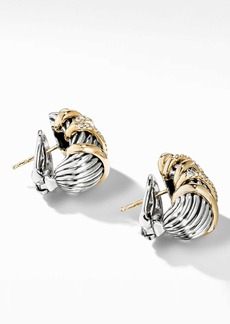 David Yurman Helena Shrimp Earrings with 18K Gold and Diamonds