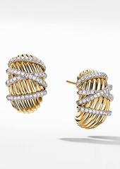 David Yurman Helena Shrimp Pavé Diamond Earrings
