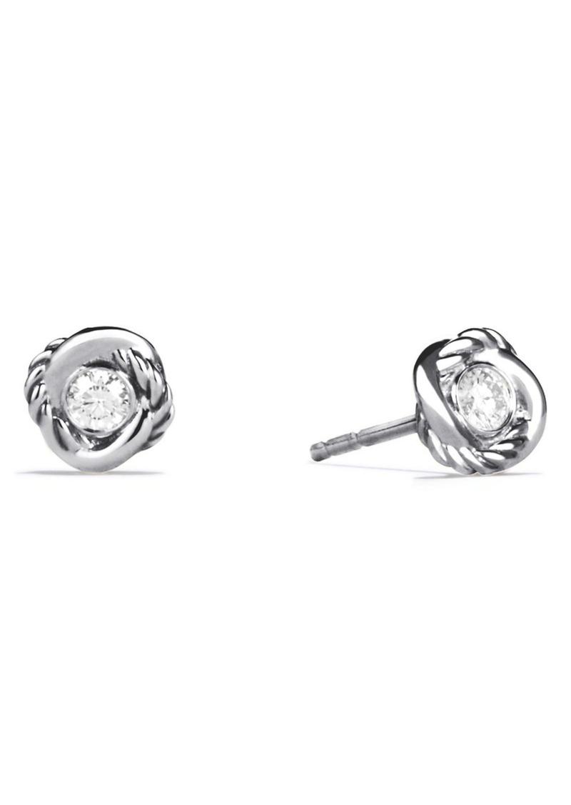 David Yurman Infinity Earrings with Diamonds