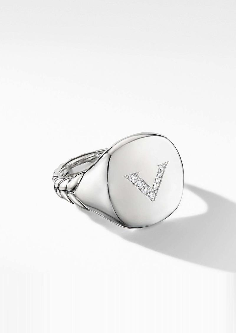 David Yurman Initial Pinky Ring
