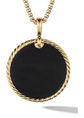 David Yurman Large 18K Gold Cable Disc Amulet