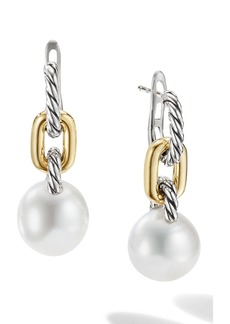 David Yurman Madison Cultured Pearl Chain Drop Earrings