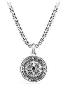 David Yurman 'Maritime' Compass Amulet with Black Diamond
