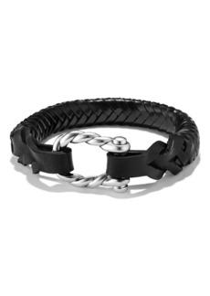 David Yurman 'Maritime' Leather Woven Shackle Bracelet