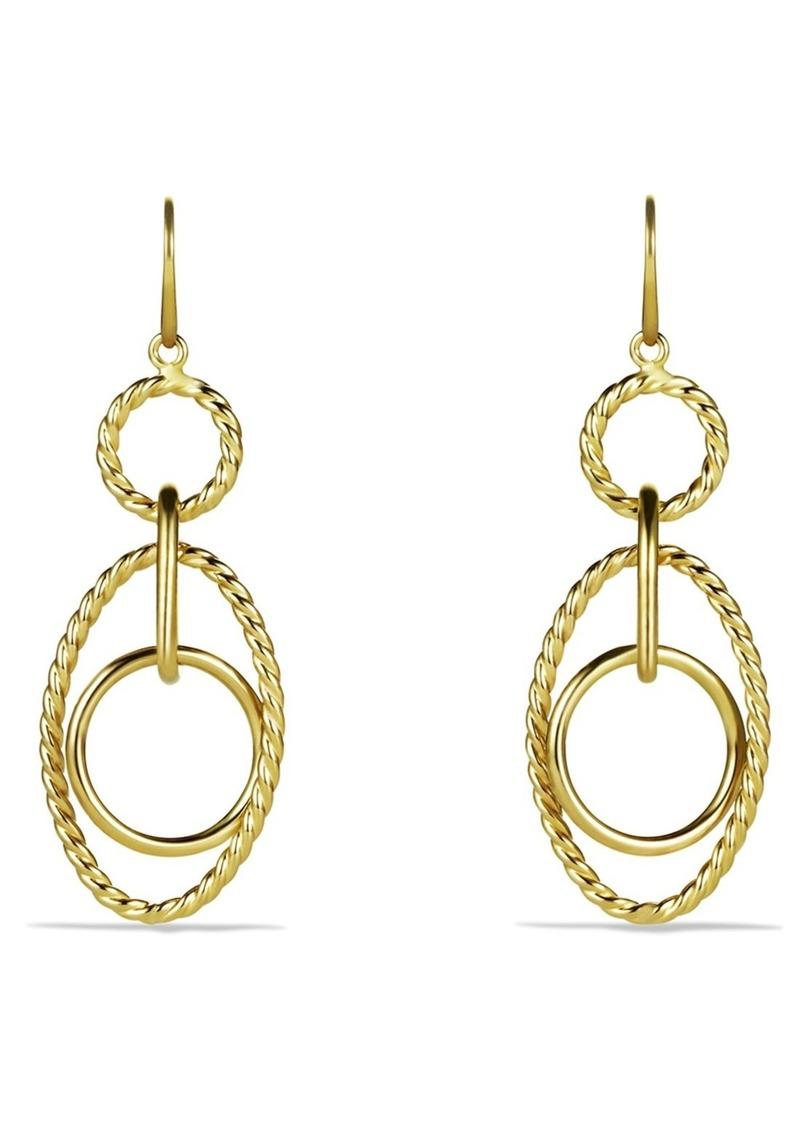 David Yurman Mobile Small Link 18K Gold Drop Earrings