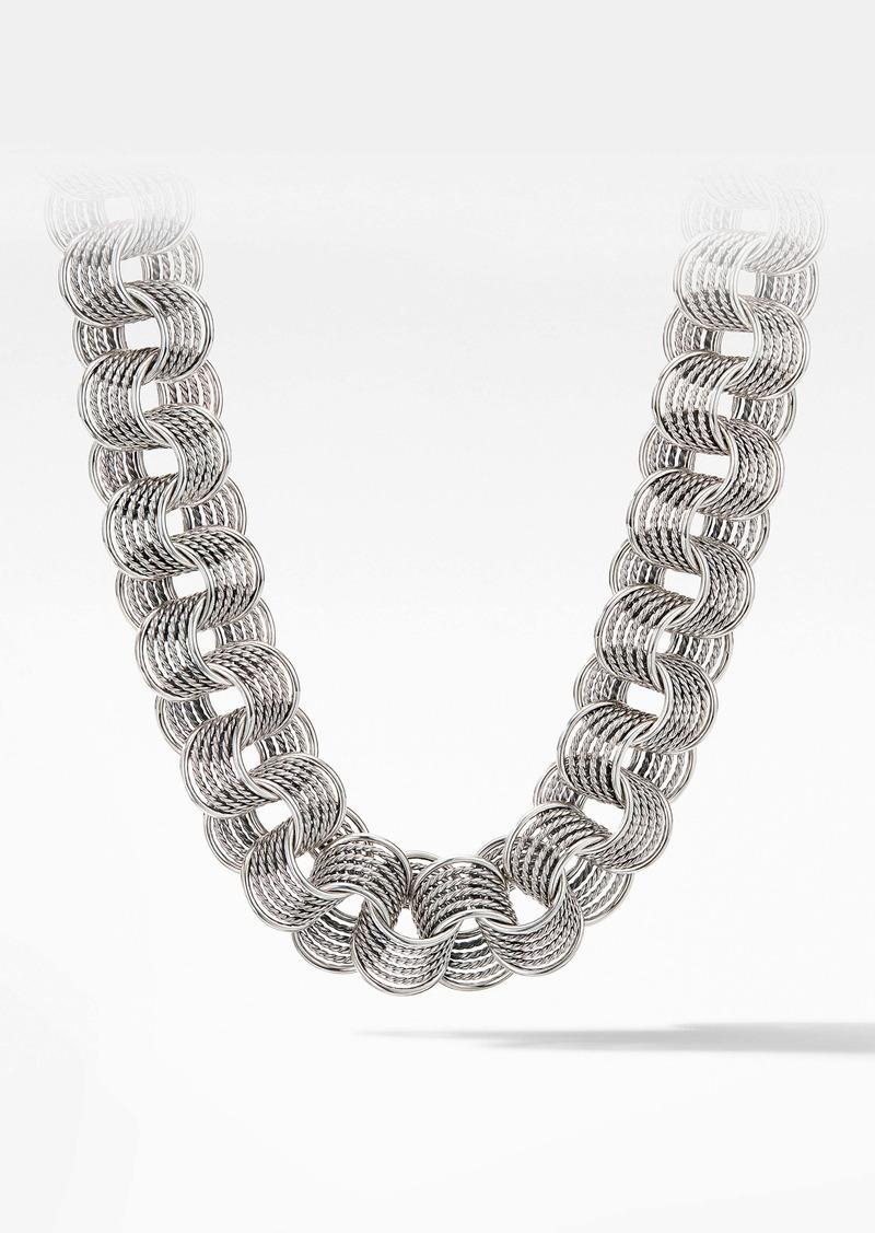 David Yurman Origami Medium Linked Necklace