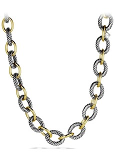 David Yurman 'Oval' Extra-Large Link Necklace with Gold