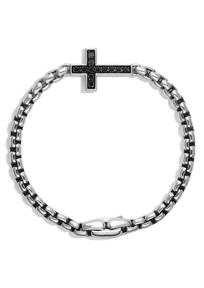 David Yurman Pavé Black Diamond Cross Station Bracelet