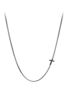 David Yurman Pavé Cross Necklace with Diamonds