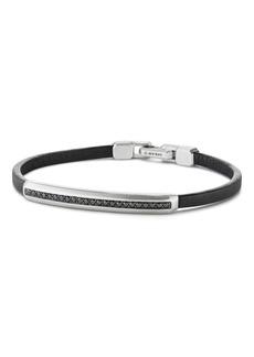 David Yurman Pavé Leather ID Bracelet