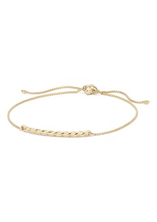 David Yurman Paveflex Station Bracelet in 18K Gold