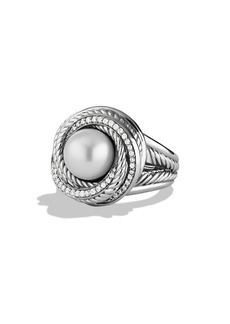 David Yurman 'Pearl Crossover' Ring with Diamonds