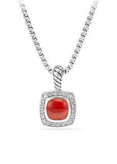 David Yurman Petite Albion Green Onyx & Diamond Pendant Necklace
