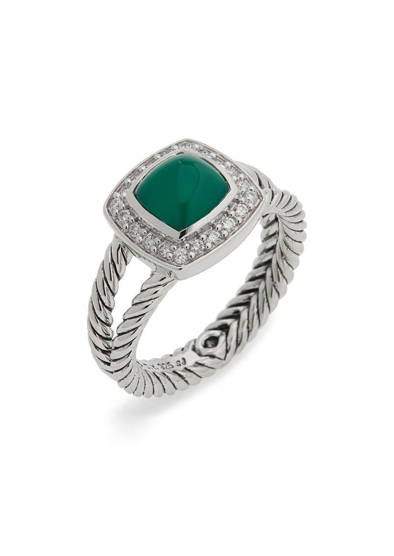 David Yurman Petite Albion Ring with Semiprecious Stone & Diamonds
