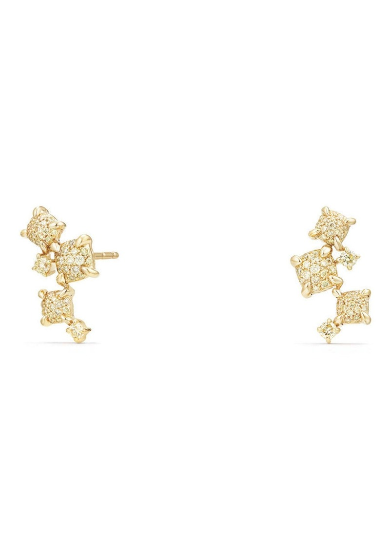 David Yurman Petite Chatelaine Climber Earrings in 18K Gold with Diamonds in Yellow Diamond at Nordstrom