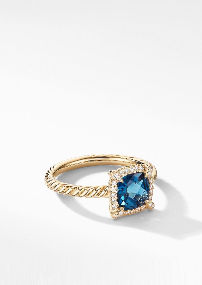 David Yurman Petite Chatelaine® Pavé Bezel Ring