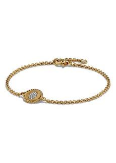 David Yurman 'Petite Pavé' Hamsa Bracelet with Diamonds in 18K Gold