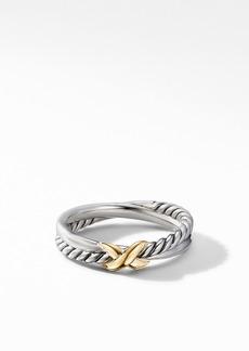 David Yurman Petite X Ring with 18K Yellow Gold
