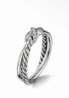 David Yurman Petite X Ring with Pavé Diamonds
