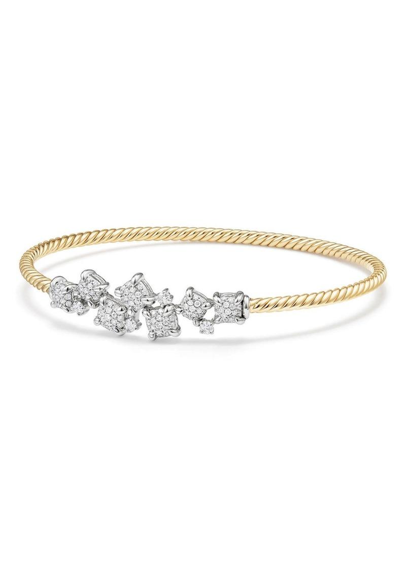 David Yurman Precious Chatelaine Bracelet with Diamonds in 18K Gold