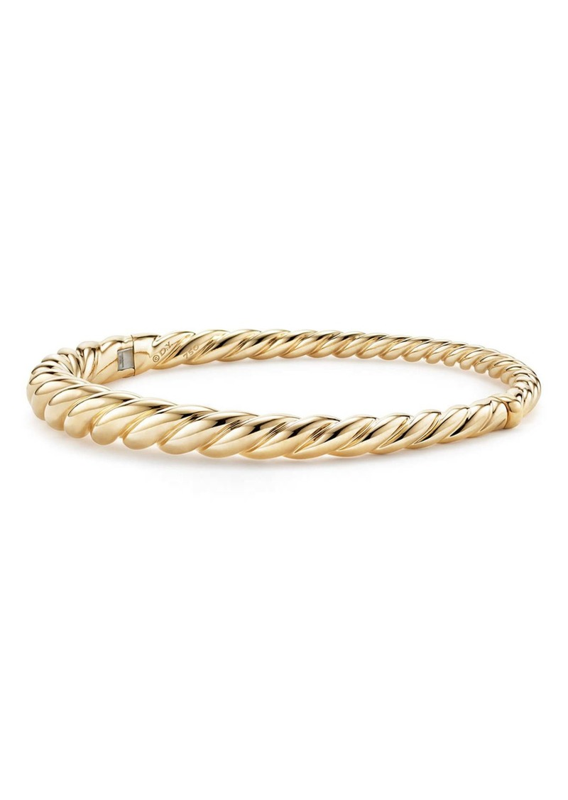 David Yurman Pure Form Cable Bracelet in 18K Gold, 6mm