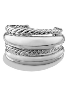David Yurman 'Pure Form' Four-Row Sterling Silver Cuff
