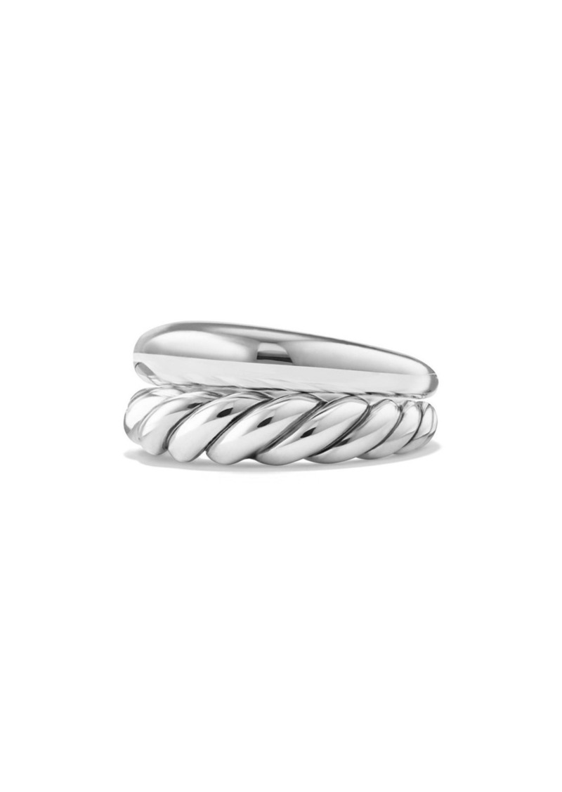 David Yurman Pure Form Sterling Silver Stacking Rings (Set of 2)