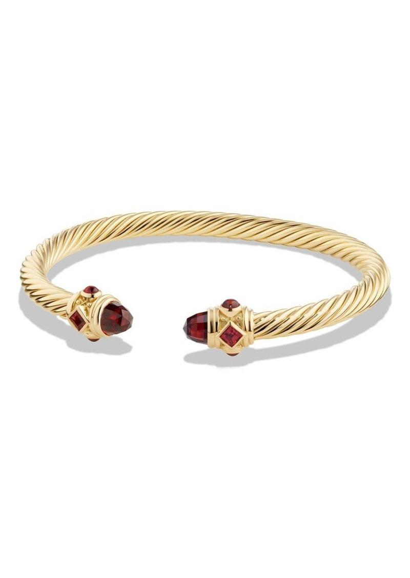 3870483527ec David Yurman David Yurman  Renaissance  Bracelet with Garnet in 18K ...